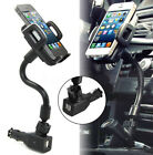 Dual USB Car Charger Cigarette Lighter Mount Holder For Iphone XR XS Samsung S10