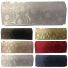New Ladies Diamante Pattern Satin Evening Clutch Bag Purse Handbag