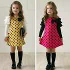 Toddler Kids Baby Girls Tulle Princess Dress Sundress Long Sleeve Party Dresses