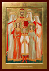 ICON OF ROMANOV FAMILY PRINT. TSAREVICH ALEXEI. IMPERIAL RUSSIA. GRAND DUCHESSES