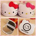 Hello Kitty Red Pink Bow Double-sided Makeup Portable Pocket Comestic Mirror