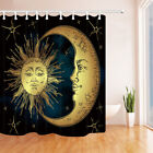 """Antique Boho Chic Sun And Moon Bathroom Polyester Fabric Shower Curtain Set 71"""""""