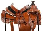 USED 15 16 WESTERN RANCH ROPING ROPER COWBOY HORSE LEATHER SADDLE TACK