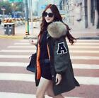 Womens Big Luxury Fur Collar Hooded Overcoat Loose Thicken WARM Thick Fashion **