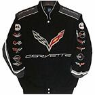 Corvette Racing Embroidered Cotton Jacket  JH Design Black new