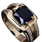 Zircon 1Pcs Fashion Ring Upscale Square Sapphire