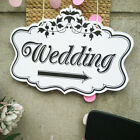 Wedding Ceremony Arrow Direction Board Sign Pointing Party Ribbon Reception