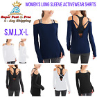Long Sleeve Cut Out Top Sexy Yoga Tops Workout Casual Gym Clothes Sport Women