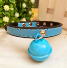 Small Dog Pet Cat Collar Puppy Pu Leather Teddy VIP Bears Collar With Cute Bell