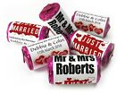Personalised Mini Love Heart Sweets for Weddings favours, Just Married - V0