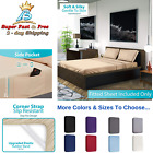 Extra Deep Pocket Bottom Fitted Sheet Luxurious Tight Smart Corner Straps  image