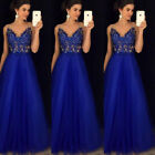 Women Lace Long Dress Evening Party Gown Prom Ladies Bridesmaid Dresses Sundress