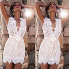US Women's Summer Casual Sleeveless Lace Beach Party Evening Cocktail Mini Dress