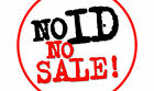 No ID No Sale It Is Illegal To Sell Tobacco Alcohol Sign Printed Sticker Vinyl
