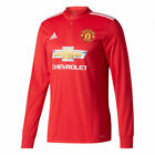 MENS ADIDAS MANCHESTER UNITED HOME LONG SLEEVE JERSEY AZ7586 SIZE MEDIUM,XL