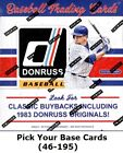 2017 Donruss Singles (Pick Your Cards 46-195) $0.99 USD