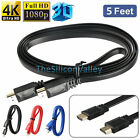 5FT HDMI Cable Cord Connect TV to Laptop Computer PC DVD BLU-RAY Media Player