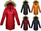 womens long winter coats - New Womens Long Hooded Puffer Warm Coat jacket S-XL