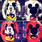 Women Mickey Mouse Pullover Jumper Hoodie Long Sleeve Sweatshirt T-shirt Blouse
