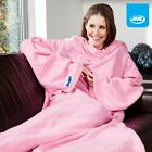 JML Snuggie Blanket with Sleeves Warm Soft Fleece Snug Snuggle Sleeved Wrap Pink