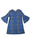 Joah Love Caitlin Olive Deco Print Tunic Dress Cotton Jersey Sizes 4-14 NWT