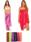 Womens  Sarong Sequin Chiffon Beach  Wrap Scarf Cover Up Beach Ladies Dress