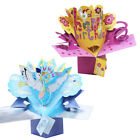3D Happy Birthday Flower Cloud Print Pop Up Greeting Card Creative Gift New