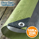 200gsm Tarpaulin Heavy Duty Builders Waterproof Ground Sheet Tarp Cover Green