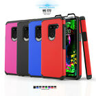 Kyпить FUSION ARMOR COVER PHONE CASE FOR [LG TRIBUTE DYNASTY] +BLACK TEMPERED GLASS на еВаy.соm