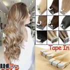 Tape in Virgin Remy Human Hair Extensions MY Seamless Skin Weft US Stock New