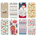 Christmas Cartoon Silicone TPU Pattern Phone Case Shockproof Cover iPhone Hot
