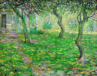 "ERNEST LAWSON ""French Farmhouse, Spring"" orchard CANVAS OR PAPER various SIZES"