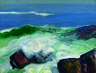"GEORGE WESLEY BELLOWS ""Out of the Calm"" waves ON CANVAS OR PAPER various SIZES"
