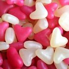 BARRATT PINK AND WHITE LOVE HEARTS JELLY BEAN SWEETS WEDDING FAVOURS VALENTINE
