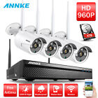 ANNKE 4 960P HD Outdoor Wireless Home Security Camera System with Night Vision