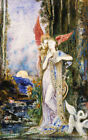 """GUSTAVE MOREAU """"Inspiration"""" portrait ON CANVAS choose SIZE, from 55cm up, NEW"""