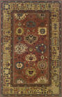 Brown Traditional - Persian/Oriental Vines Leaves Border Area Rug Floral 23107