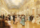 """VICTOR GILBERT """"The Ball"""" dance portrait ON CANVAS choose your SIZE, 55cm up"""