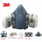 3M Dust Paint Mask Half Face Respirator Filter Spray Protect Smoke Gas Small