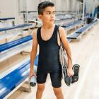 4TIME NEW SOLID BLACK LYCRA WRESTLING SINGLET YOUTH OR ADULT - ALL SIZES