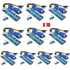 10 PCS VER008C Pcie PCI-E Express 1x To 16x Extender Riser Card Adapter Cable