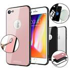 Anti-Scratch Dual Layer Full Tempered Glass Defender Box Case For IPhone 7 / 8