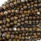 """African Brown Opal Round Beads Gemstone 15.5"""" Strand 4mm 6mm 8mm 10mm 12mm"""