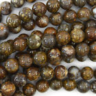 "African Brown Opal Round Beads Gemstone 15.5"" Strand 4mm 6mm 8mm 10mm 12mm"