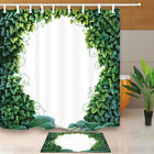 Enchanted Forest From Green Ivy and Moss Bathroom Fabric Shower Curtain 71Inch