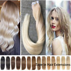 """40pcs 7A 14""""-22"""" 100% REMY Tape In 100%  Human Hair Extensions UK STOCK"""