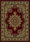 Red Traditional - Persian/Oriental Floral Bordered Area Rug Medallion 1191
