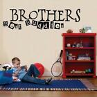 BROTHERS BEST BUDDIES Quote Decal WALL STICKER Art Decor Kids Nursery SQ1031
