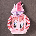 Kids Girls Hoodie My Little Pony Wing Sweater Sweatshirt Coat Zip Jacket Outwear