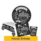 HOORAY BIRTHDAY PARTY NEW Tableware Balloons Decorations Supplies